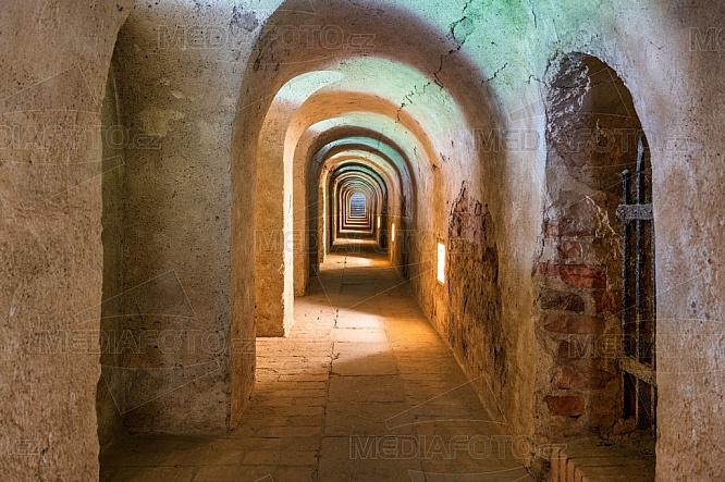 Malá pevnost Terezín, chodba, tunel
