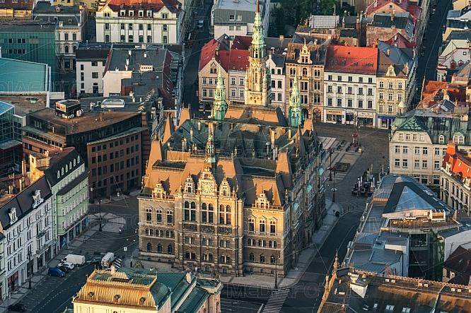 Radnice, Liberec, letecky, budova