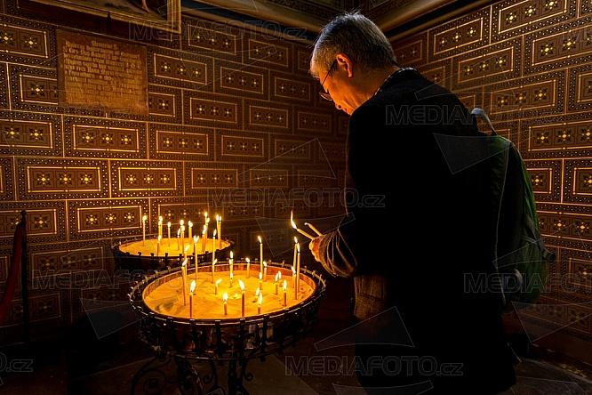 Svíčka, náboženství, víra, kostel
