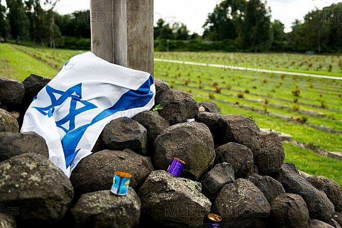 Izraelská vlajka, Národní hřbitov, Terezín