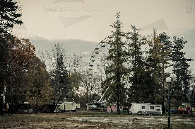 ruské kolo, kolotoč, zábavní atrakce, lunapark