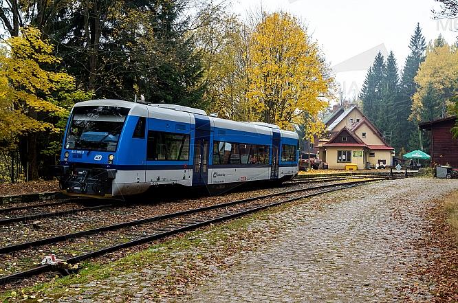 Stadler, 840, Regio-Shuttle, železnice, vůz, stanice, Harrachov