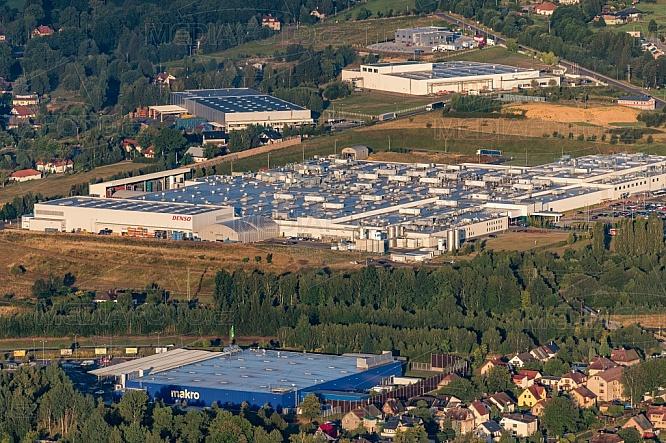 Průmyslová zóna Liberec - jih, letecky