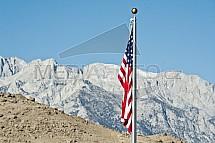 Údolí smrti, Death valley, vlajka, USA