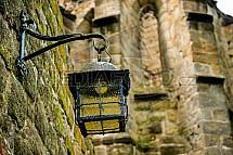 Lampa, lucerna, Oybin, hrad, klášter, zřícenina