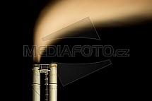 komín, spalovna, kouř, pára