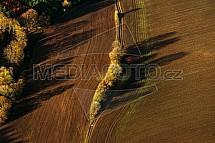 Pole, zemědělství, mez, podzim