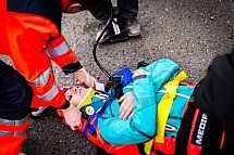 Zdravotnictví, záchranná služba, lékař, zranění, pacient