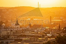 Brno, východ slunce