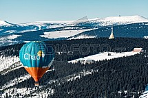 Černá hora, vysílač, Krkonoše, horkovzdušný balón, letecky