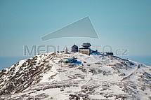 Sněžka, Krkonoše, letecky