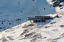 Sněžka, lanovka, stanice, Krkonoše, letecky