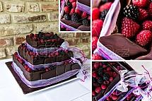 Dort, lesní plody, čokoláda