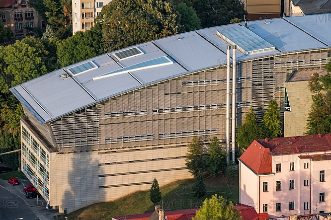 Krajská vědecká knihovna Liberec, letecky