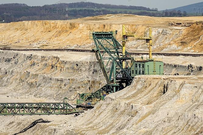 Důl, uhlí, Turów, Polsko