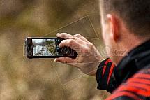 cyklostezka, telefon, fotograf
