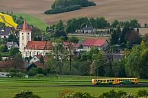 Kostel sv. Prokopa, Libošovice, vlak, železnice, doprava, Český ráj