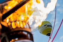 Horkovzdušný balon, hořák, plamen, oheň
