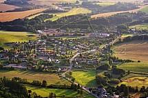 Obec Karlovice - Radvánovice, letecky