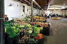 Trh, obchod, ovoce, zelenina