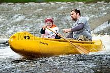 Vodák, vodáctví, kanoe, jez