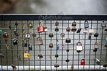 Zámek, visací, most, zábradlí