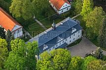 Zámek Jablonná nad Vltavou, letecký snímek