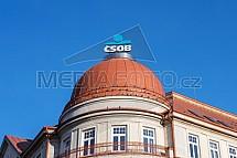 ČSOB Liberec, banka, střecha, budova, logo
