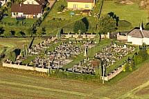 Hřbitov, Libošovice, letecky