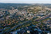 Liberec, letecky