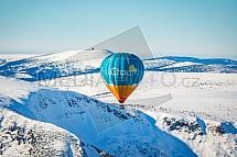 Horkovzdušný balón, Krkonoše, letecky