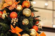 Vánoce, stromek, výzdoba, koule