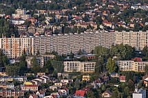 Panelák Hokejka, Liberec, letecky
