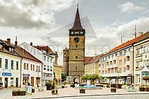 Jičín, Valdická brána, Žižkovo náměstí