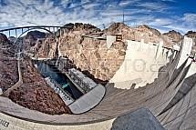 Hoover dam, přehrada, Colorado, USA