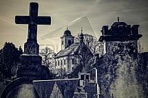 Hřbitov, kostel sv. Jiří, Jenišovice