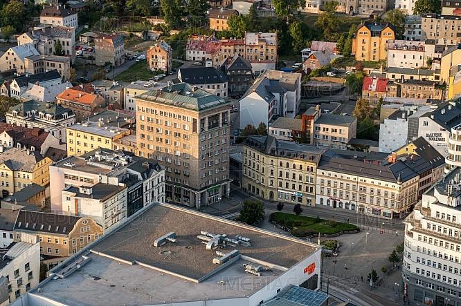 Palác Nisa, Liberec, letecky