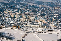 Liberec, sídliště Gagarinova, letecky