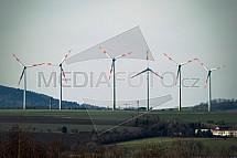 Větrná elektrárna, turbína, vítr, energie