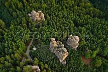 Hruboskalské skalní město, letecky
