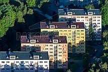 Panelový dům, sídliště, letecky