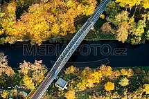 Most, řeka, Jizera, podzim
