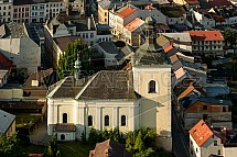 Kostel sv. Mikuláše, Turnov, letecky