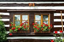 Okno, roubenka