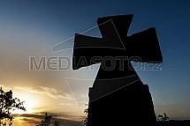 Kamenný maltézský kříž
