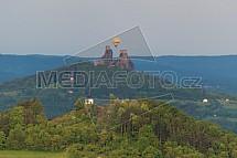 Český ráj, Trosky, Vyskeř, horkovzdušný balón