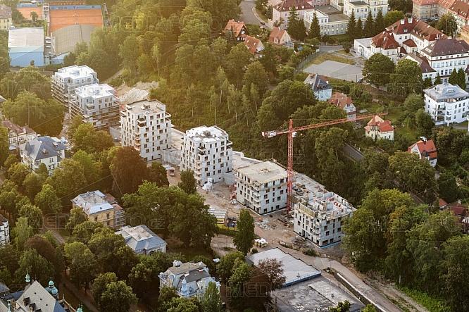 Rezidence Park Masarykova, Liberec, letecky, budova