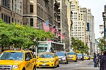 New York, Manhattan, taxi, bus, doprava