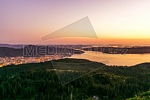 Bergen, Blåmanen, západ slunce