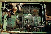 motor, traktor, starý